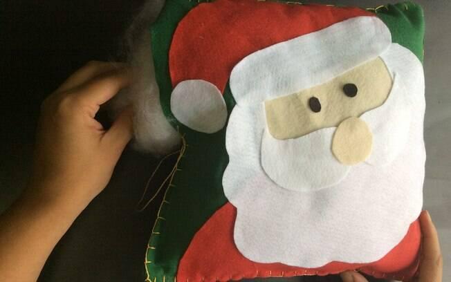 Almofada de Natal: encha a almofada
