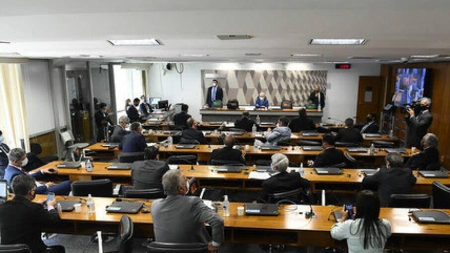 Registro de uma sessão da CPI da Pandemia