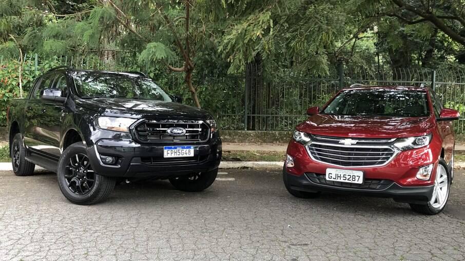 Ford Ranger Black e Chevrolet Equinox:  picape com pegada urbana tem porte maior e se mostra mais valente nos obstáculos