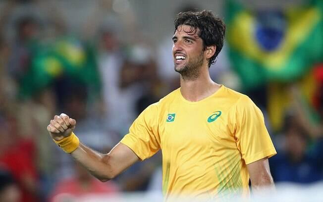Thomaz Bellucci venceu e está nas quartas do Rio 2016