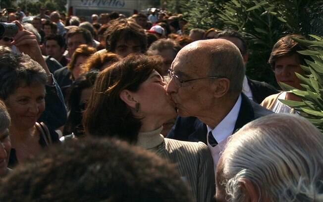 José Saramago e sua esposa Pilar Del Río em documentário de 2010