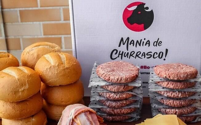 O kit de hambúrguer da Mania de Churrasco vem completo para seu pai e para a família toda!