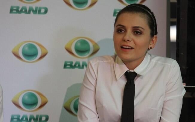 Mônica Iozzi durante coletiva da nova temporada do CQC%2C na Band