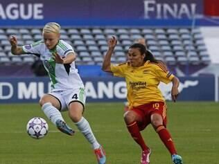 Na primeira participação do Tyresö-SWE na Liga dos Campeões feminina, time chegou na final