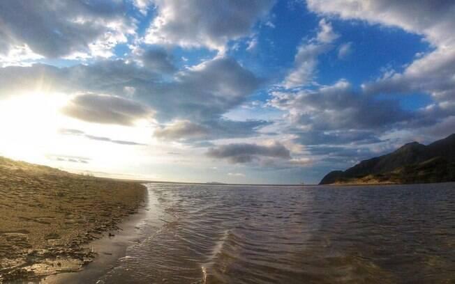 Essa é mais uma das praias de Santa Catarina, em que os turistas descrevem a vista como