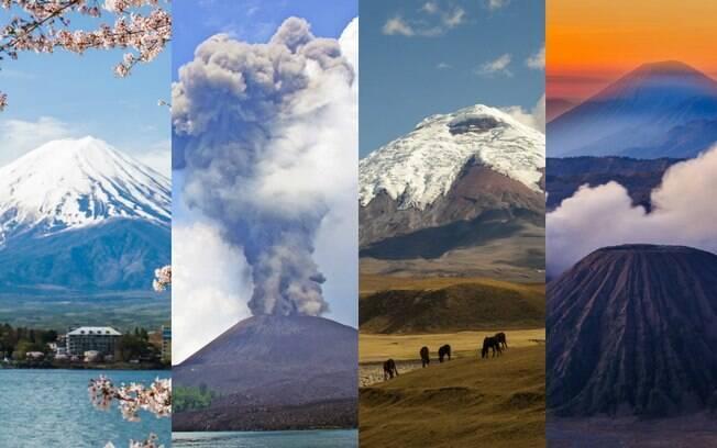 Seja o Monte Fuji (Japão), o Krakatoa (Indonésia), o Cotopaxi (Equador) ou o Bromo (Indonésia), os diversos vulcões ao redor do mundo encantam os visitantes e garantem uma fotografia incrível para ilustrar a viagem de turismo ao local