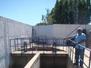 Local onde a água é captada no município de Formiga