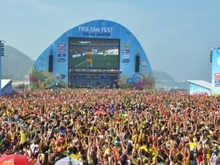 Fifa Fan Fest em Copacabana, no Rio de Janeiro (RJ)