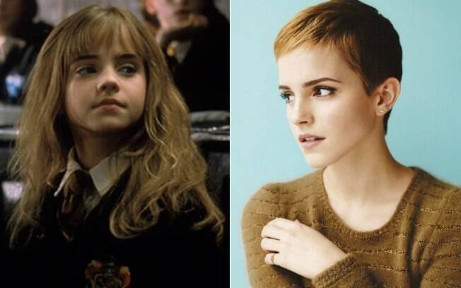 Antes e depois: Emma Watson em cena do filme