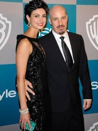 Morena Baccarin e Austin Chick no Globo de Ouro em janeiro