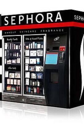 995bea62edd Máquina de vendas automáticas testada pela rede de cosméticos Sephora em  2009  mercado potencial.