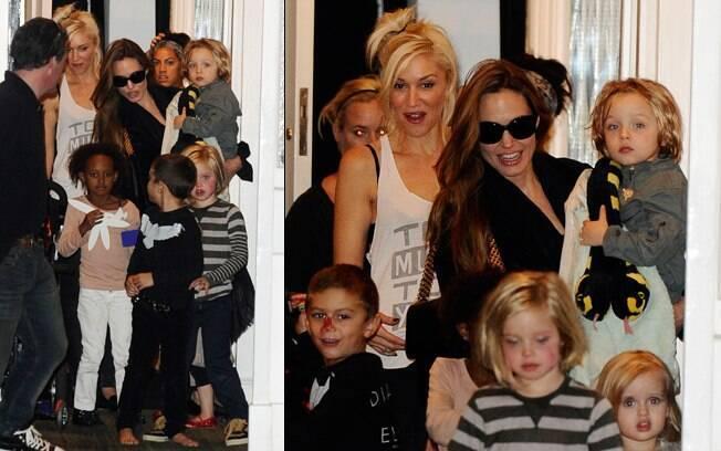 Os filhos de Angelina Jolie e Gwen Stefani se divertiram juntos em Londres