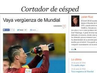 Jornalista Julian Ruiz fez duras críticas ao Mundial realizado no Brasil
