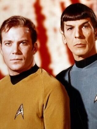 Shatner e Nimoy em 'Star Trek'