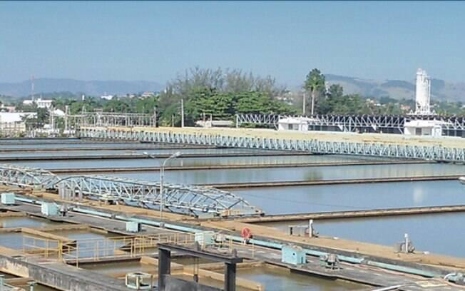 Estação de tratamento de água da Cedae, no Rio de Janeiro