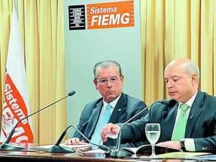 Sustentabilidade- Roberto Fagundes, Presidente da ACMinas e Sérgio Frade, Presidente da ADCE MG