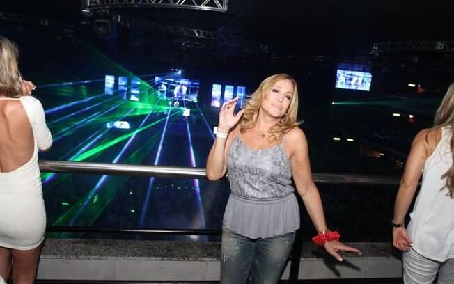 Susana Vieira curtiu a festa após o prêmio