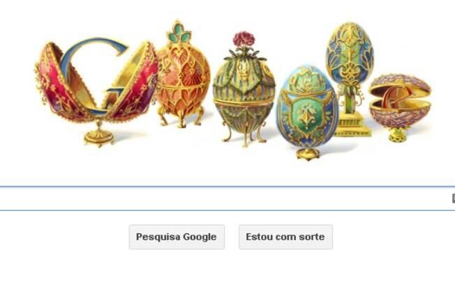 Novo doodle do Google mostra homenagem para o joalheiro Peter Carl Fabergé