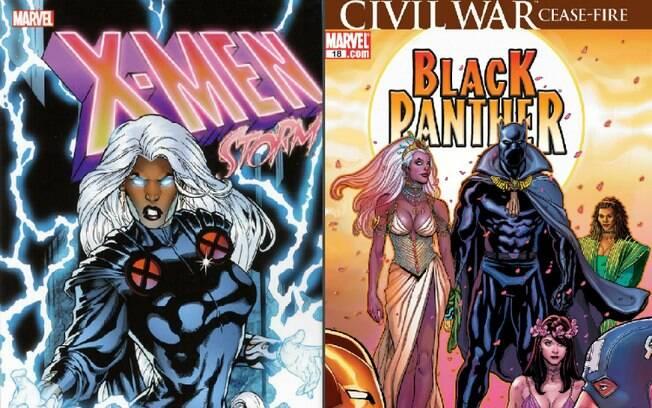 Ororo Munroe, a X-Men Tempestade, é uma das mais icônicas heroínas da Marvel. Ela se casa com o Pantera Negra