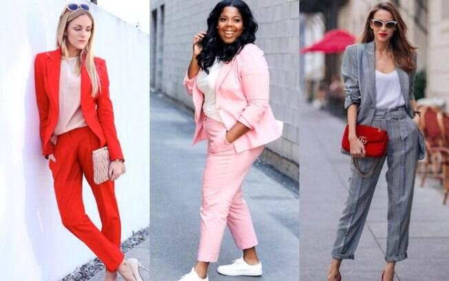 Antes de aderir à moda do terno para mulher, a dica é pensar em eventos para os quais a peça pode se encaixar melhor