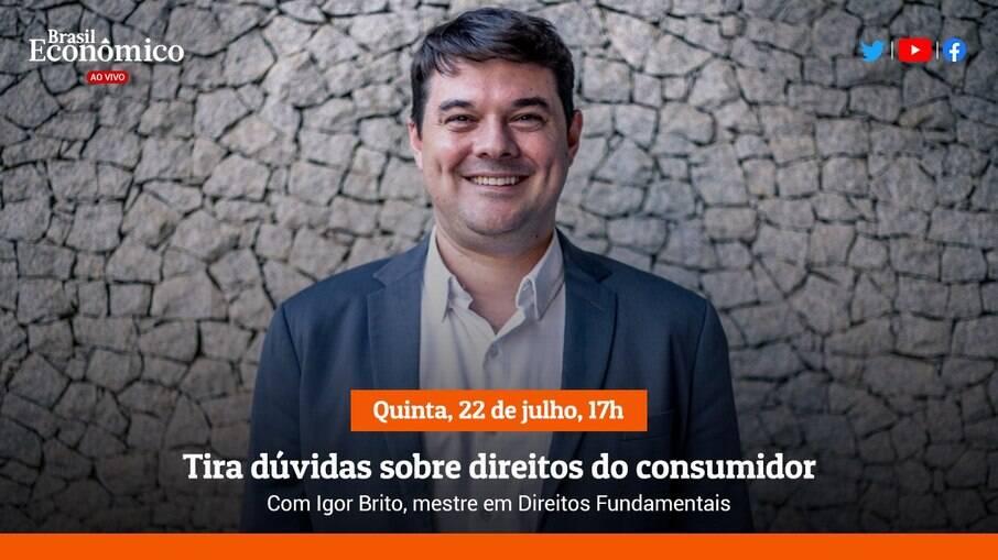 Igor Britto, convidado da Live do Brasil Econômico desta quinta-feira (22)