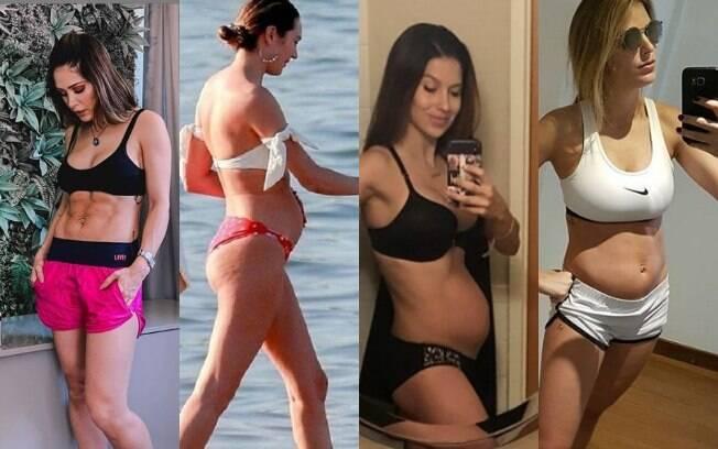 Famosas utilizam as redes sociais para falar sobre as mudanças no corpo e a barriga pós-parto