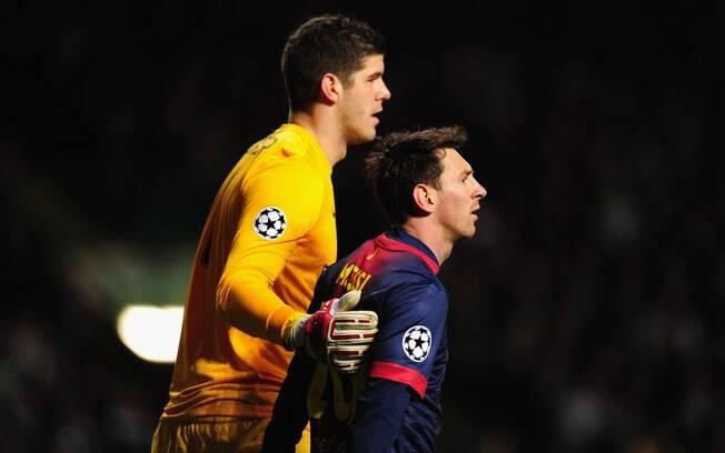 O goleiro Fraser Foster parou Lionel Messi  pelo segundo jogo seguido na Liga dos Campeões
