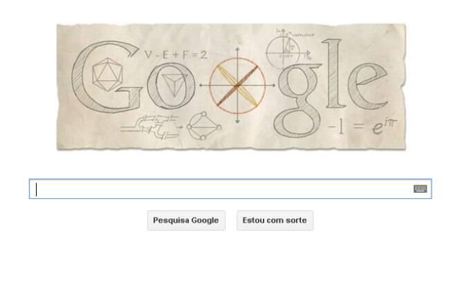Google publica logotipo interativo em homenagem a Euler