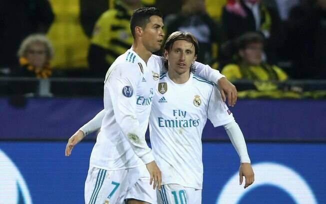 Cristiano Ronaldo e Modric nos tempos de Real Madrid