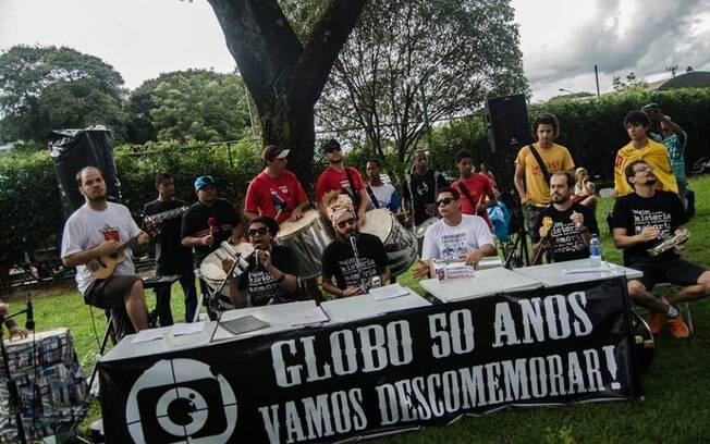 Brasília foi uma das capitais que registraram protesto contra a Rede Globo. Foto: Reprodução Facebook