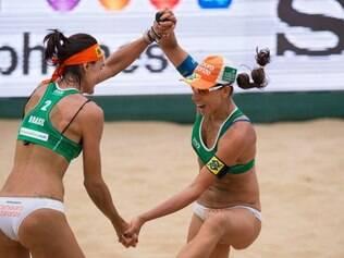 Fernanda e Taiana estão jogando juntas há menos de um mês