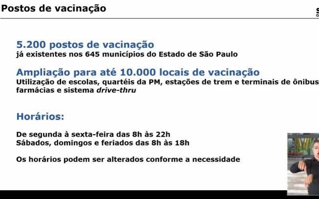 Horário de vacinação em SP