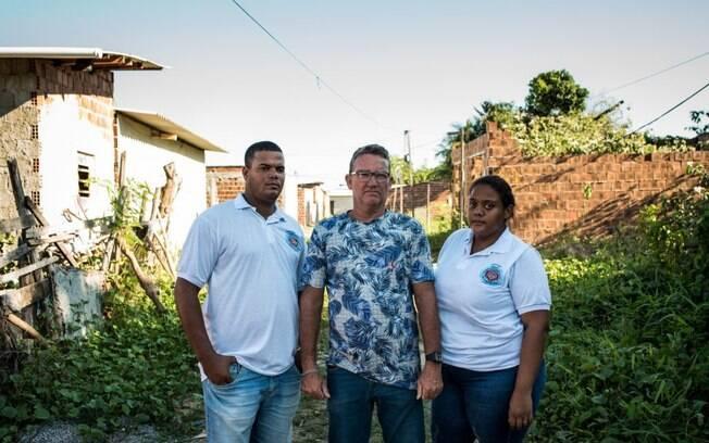 Anderson, Tony e Bete fazem parte da liderança da comunidade