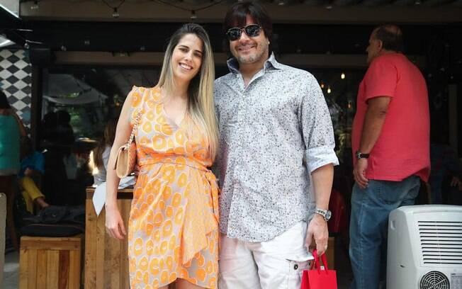 No aniversário também estavam Paulo Ricardo e Gabriela Verdeja, que está grávida do segundo filho do casal