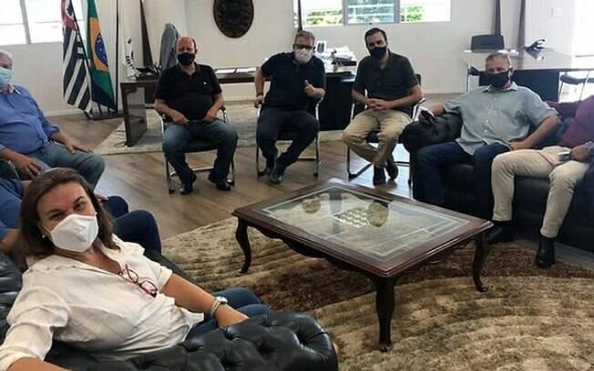 Vereadores eleitos visitaram a Câmara.