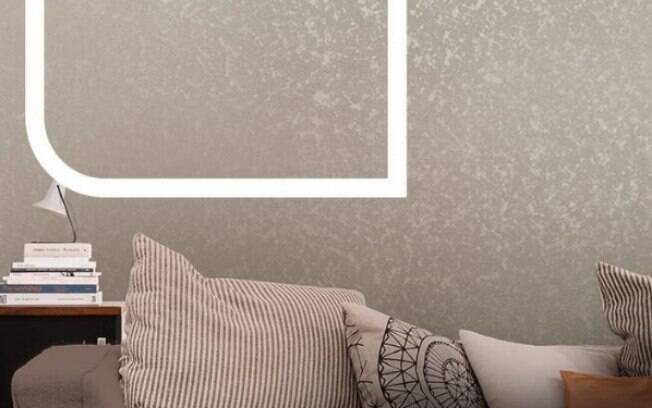 Neste ambiente, o consumidor encontra o efeito Nuage, na cor Barco a Remo, que combina com os tons das almofadas
