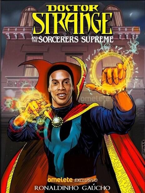 ronaldinho em capa de revista em quadrinhos