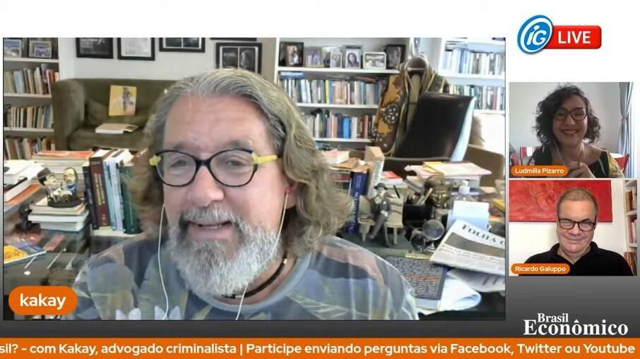 O advogado criminalista foi o entrevistado da live do Brasil Econômico desta quinta-feira (25)