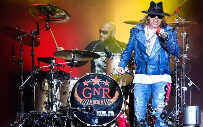 Show do Guns N' Roses na Arena Anhembi, em São Paulo (28/03/2014)