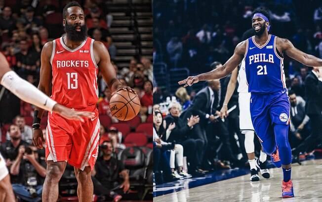 Astros de Rockets e Sixers foram os dois grandes destaques da rodada da NBA