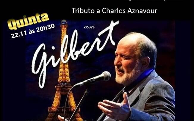 Gilbert faz show no Bar do Nelson no próximo dia 22
