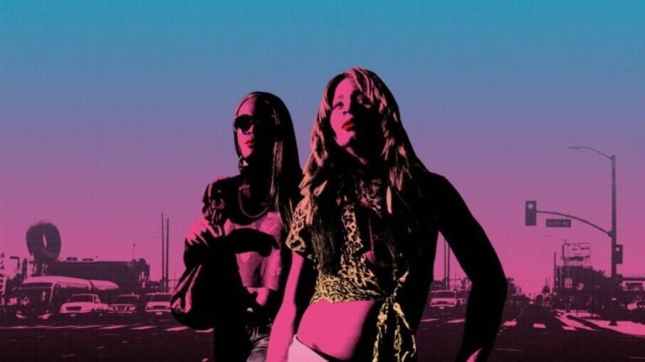 Poster do filme Tangerine (Sean S. Baker), de 2015, com elenco composto por atrizes trans que interpretam personagens trans também