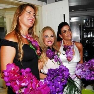 Débora Rodrigues, Brunete Fraccaroli e Lydia Sayeg: amigas após reality show