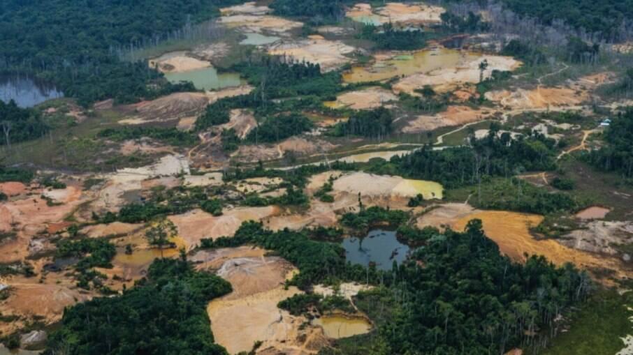 Tatuzão do Mutum, considerado o maior garimpo da Terra Indígena Yanomami, em dezembro de 2020