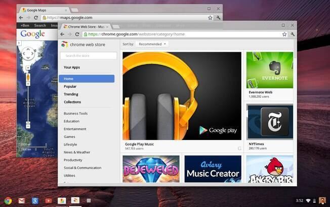 Nova interface do ChromeOS é mais parecida com Windows, o que deve atrair novos usuários