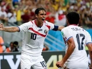 Costa Rica, uma das surpresas da Copa, foi a primeira de seu grupo e está nas quartas