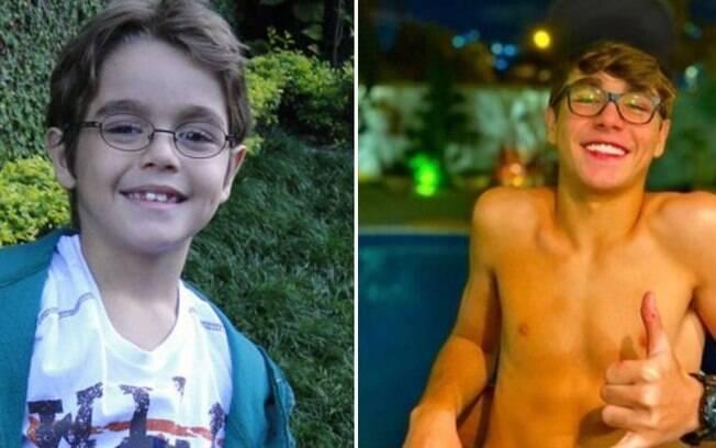 O ator Xande Valois antes e depois