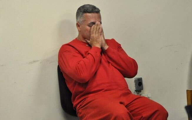 Marcos Aparecido dos Santos, o Bola, é visto no plenário neste primeiro dia de júri