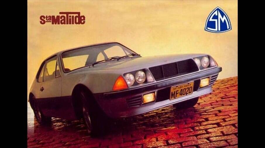 Peça publicitária do Santa Matilde, nos anos 80, época em que o carro era um dos mais caros à venda no Brasil