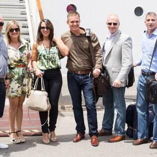Carlos Wanzeler (ao centro), um dos donos da Telexfree: empresa é pirâmide, diz Justiça